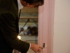 Kasteel Keukenhof architect bekijkt kleurentrap Rode kamer